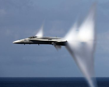 Military jet boom