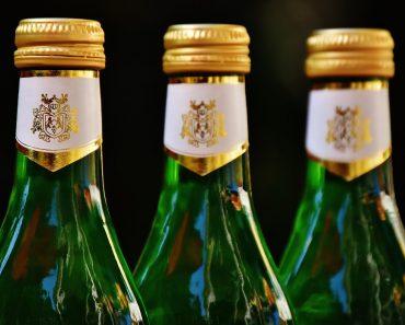 green wine bottle alcohol