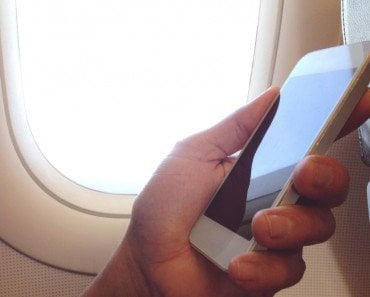 Phone in Airplane