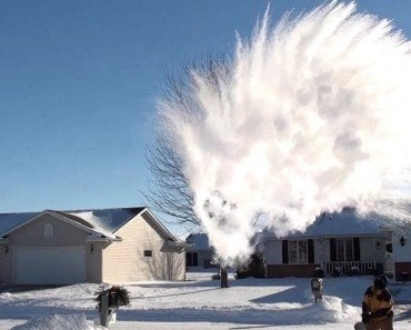 How Does Boiling Water Turn Into Snow When It's Too Cold Outside?