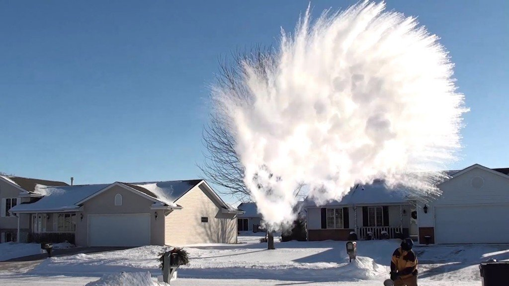 How Does Boiling Water Turn Into Snow When It U0026 39 S Too Cold Outside