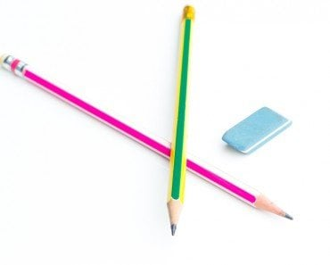 Pencil Eraser Isolated