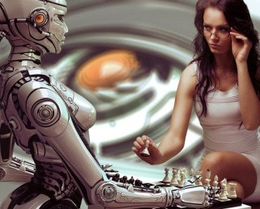 Woman Robot Chess