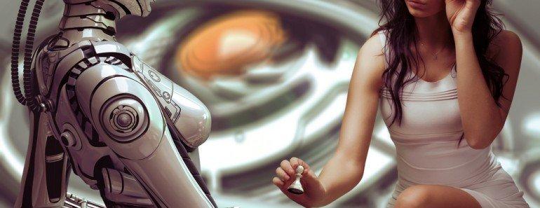 Woman Robot Chess