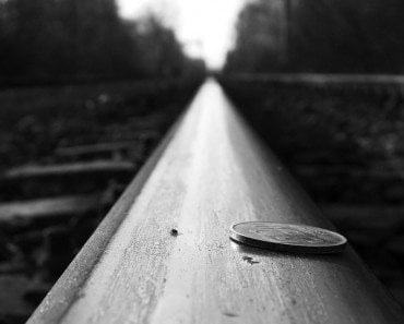 Coin on Railway Track