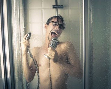 Singer in Shower