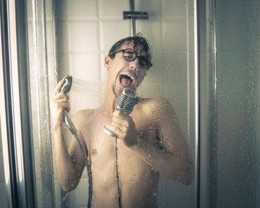 Singer in Shower