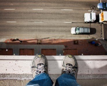 Standing on top of a building looking down Acrophobia