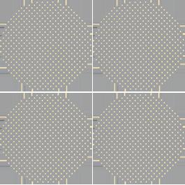 Notice the gaps between circles