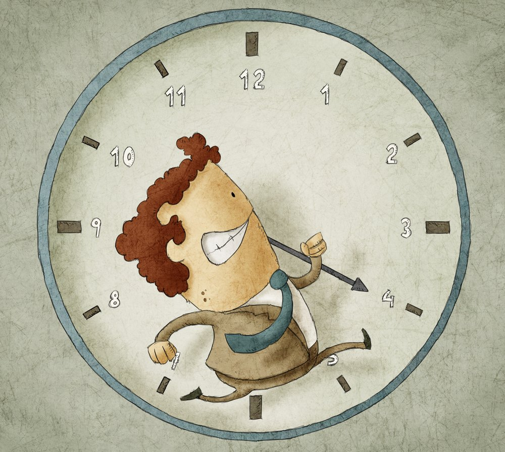 Man Inside Clock