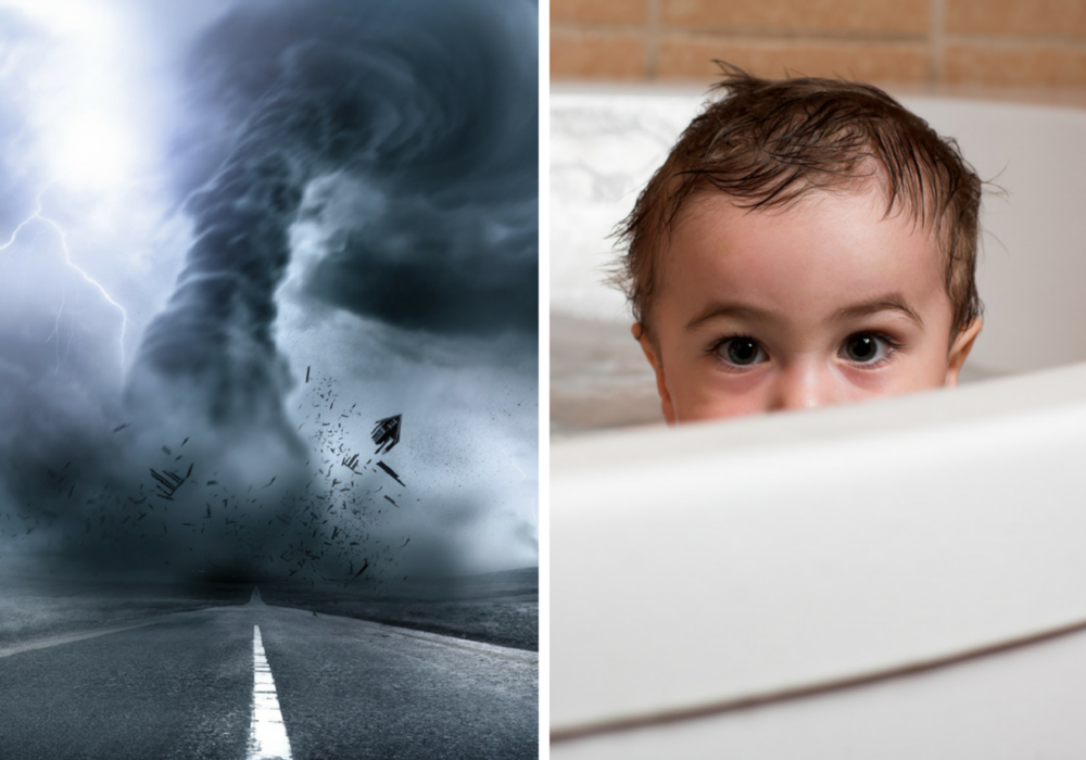 Is A Bathtub Really A Good Place To Be In During A Tornado