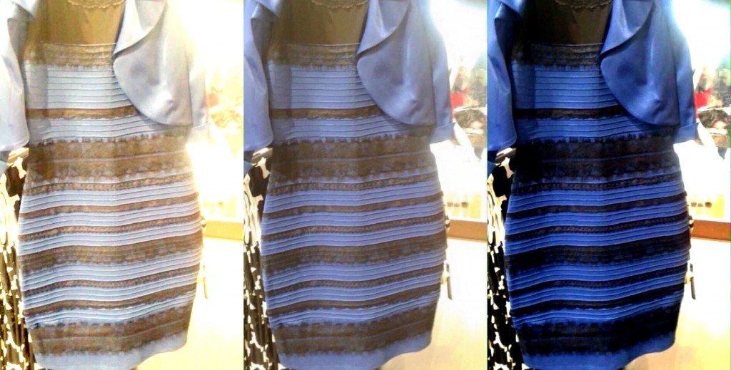 Черно синее платье или бело желтое