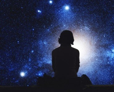 Girl gazing at stars