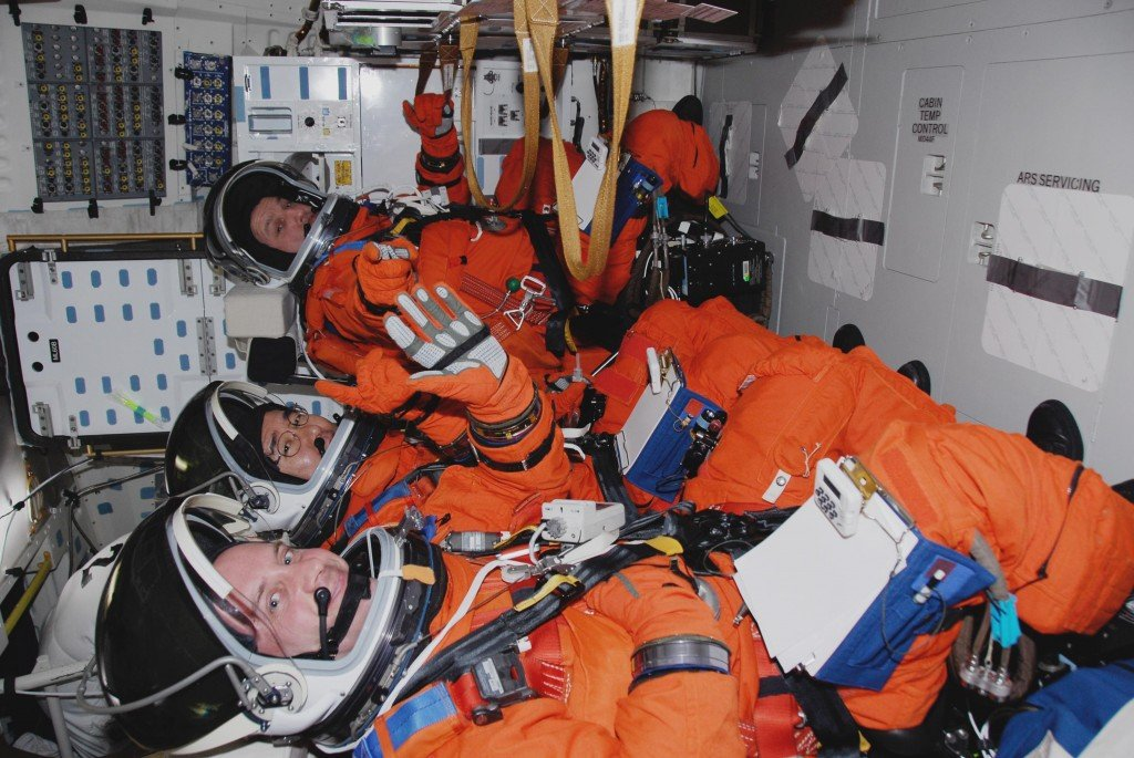 Astronauts during launch (Image source: www.spaceanswers.com)