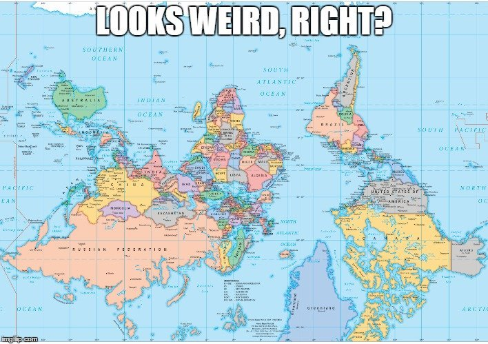 Whats Wrong With All Our Maps Science ABC - The map of the world
