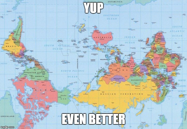 however of all the possible map projections 16th century europeans felt the most comfortable with choosing one that inflated their countries to match the