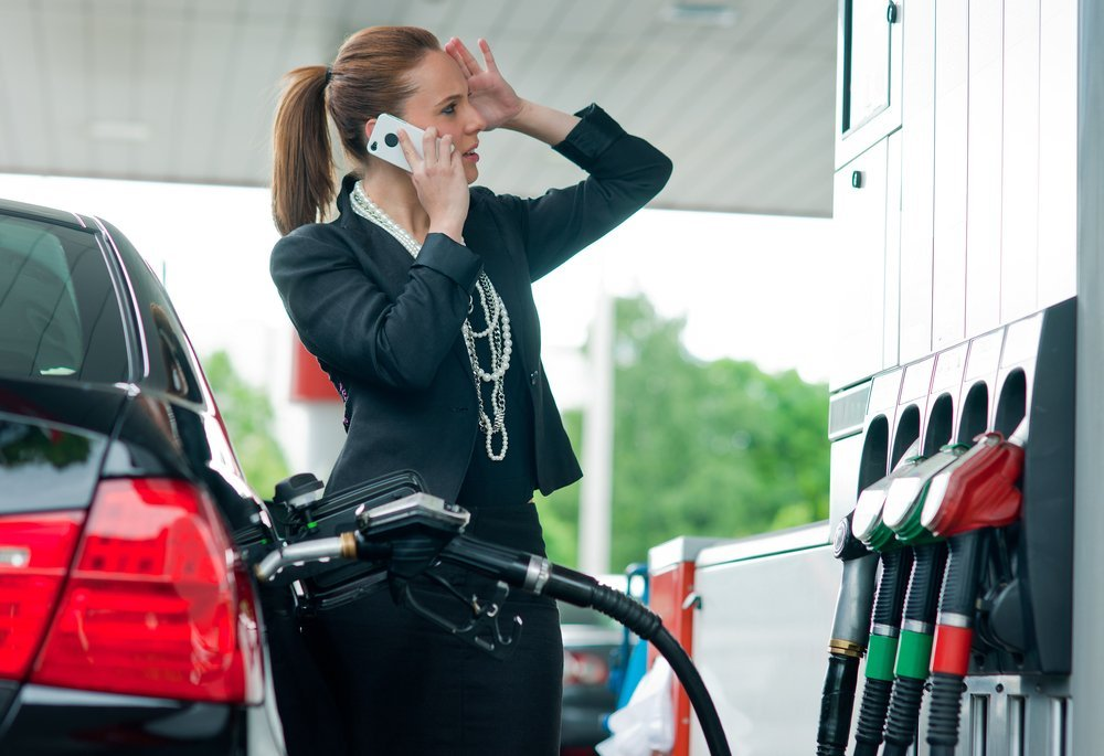 Avoid talking at a gas station for your own good (Credit: dean ...