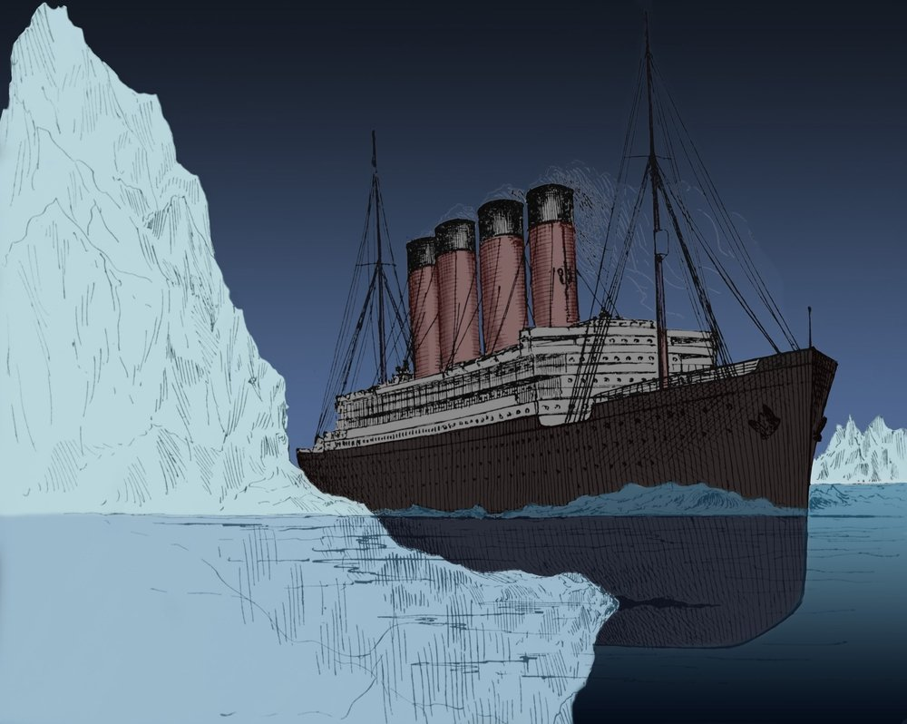 14 avril 1912  : le Titanic coulait   Iceberg-titanic