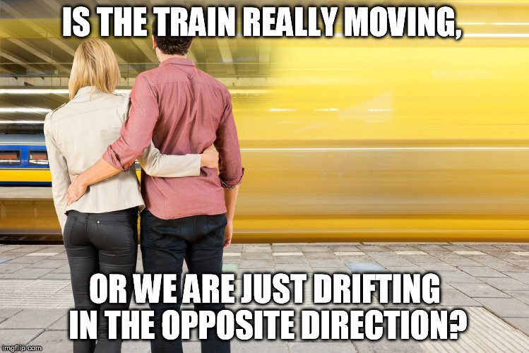 train moving meme