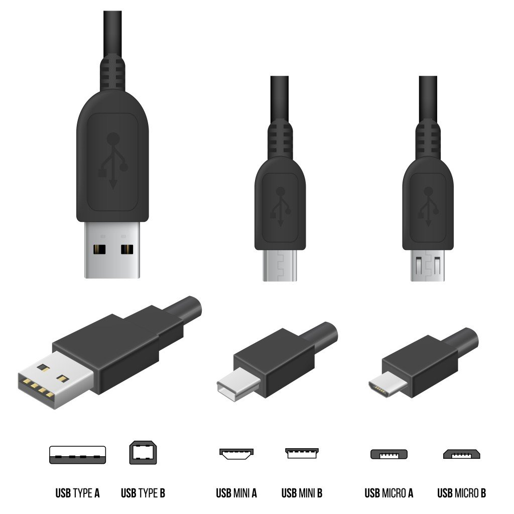 usb types various types of usb cables a b and c and their differences. Black Bedroom Furniture Sets. Home Design Ideas