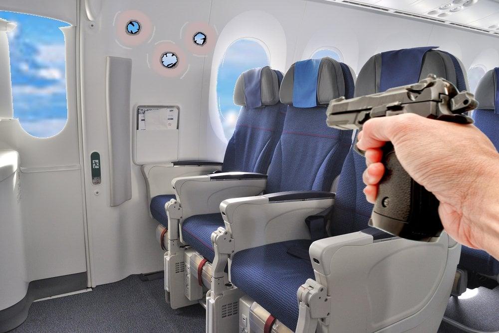 Bullet shot in plane