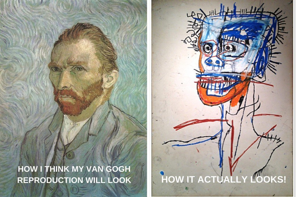 How I think my Van Gogh reproduction will look