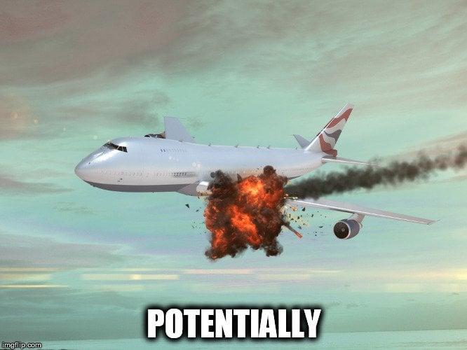 airplane explosion meme