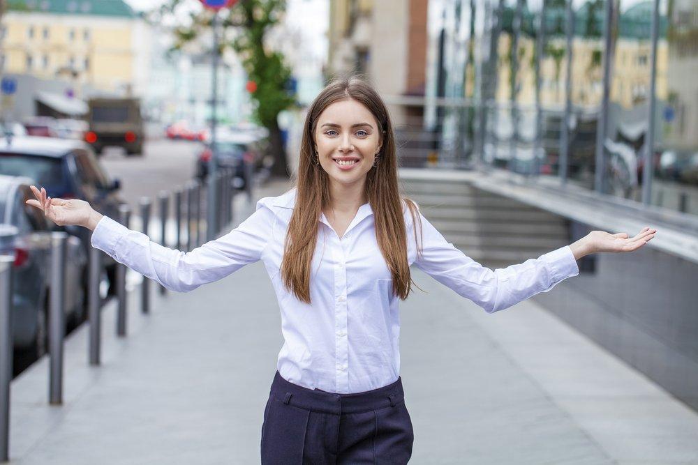 girl wearing white shirt