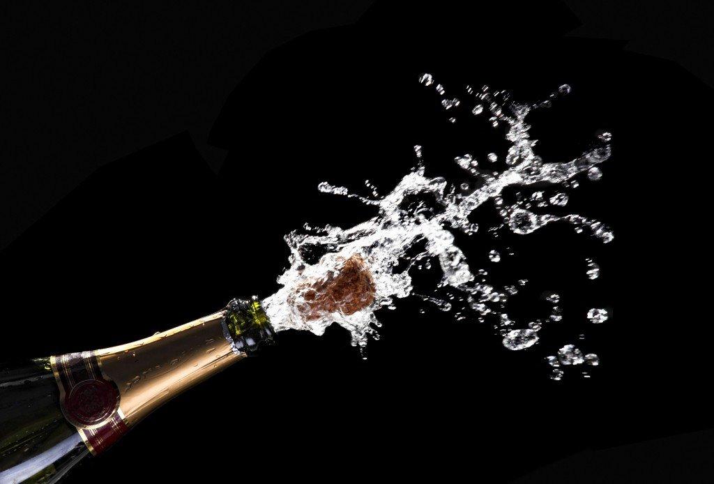 popping champagne cork