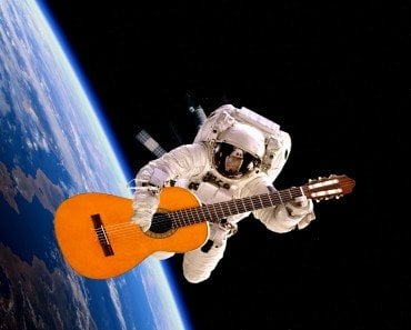 Guitar in space