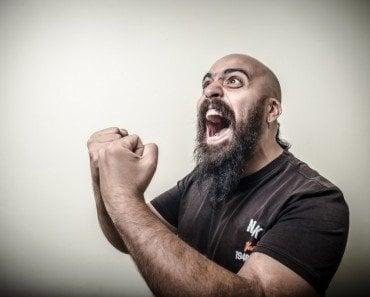 bald bearded man