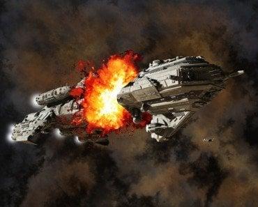 spaceship eplosion