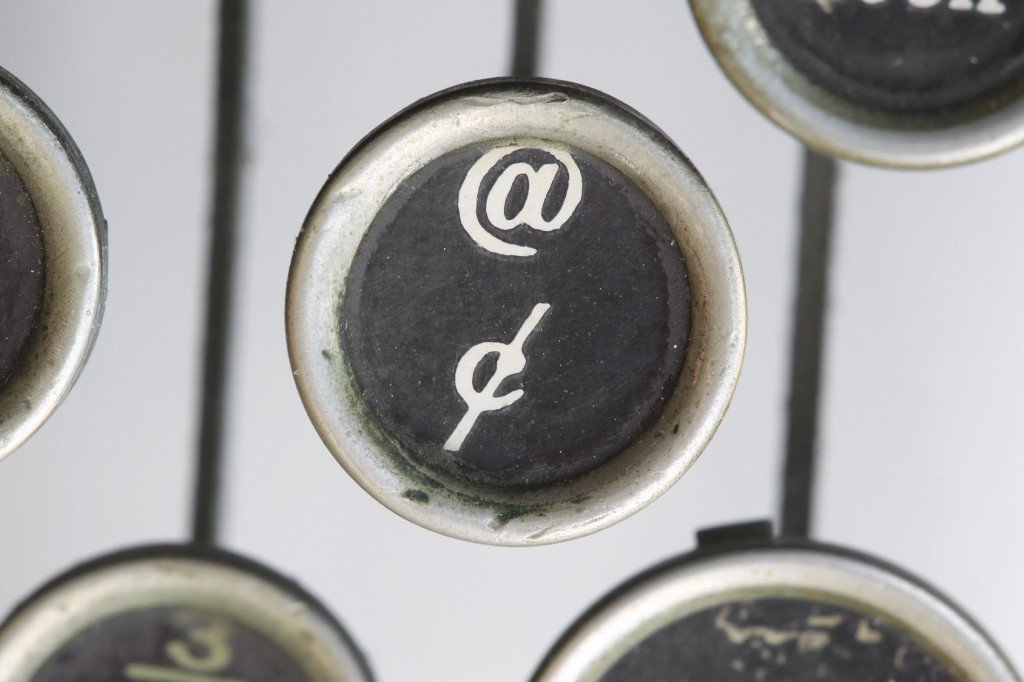 The @ Symbol on a Typewriter (Photo Credit: flysnow / Fotolia)