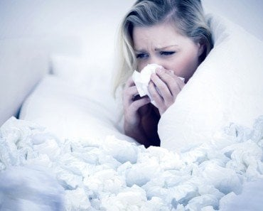 Girl Suffering from Cold