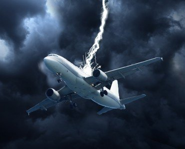 Lightning Strike on plane