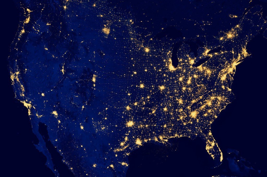 The US City Lights at Night (Photo Credit: Gianluca D.Muscelli / Fotolia)