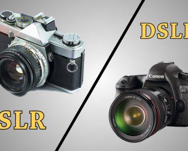 slr camera versus dslr camera