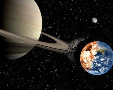 Saturn crashing into earth