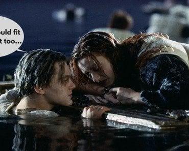 Titanic jack and rose raft scene