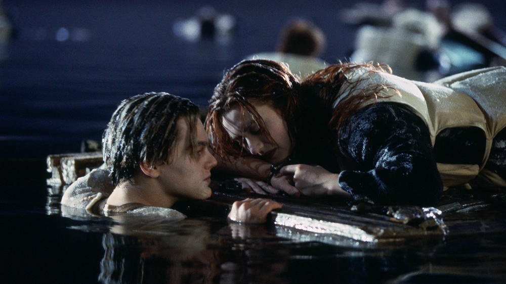 titanic jack and rose plank scene