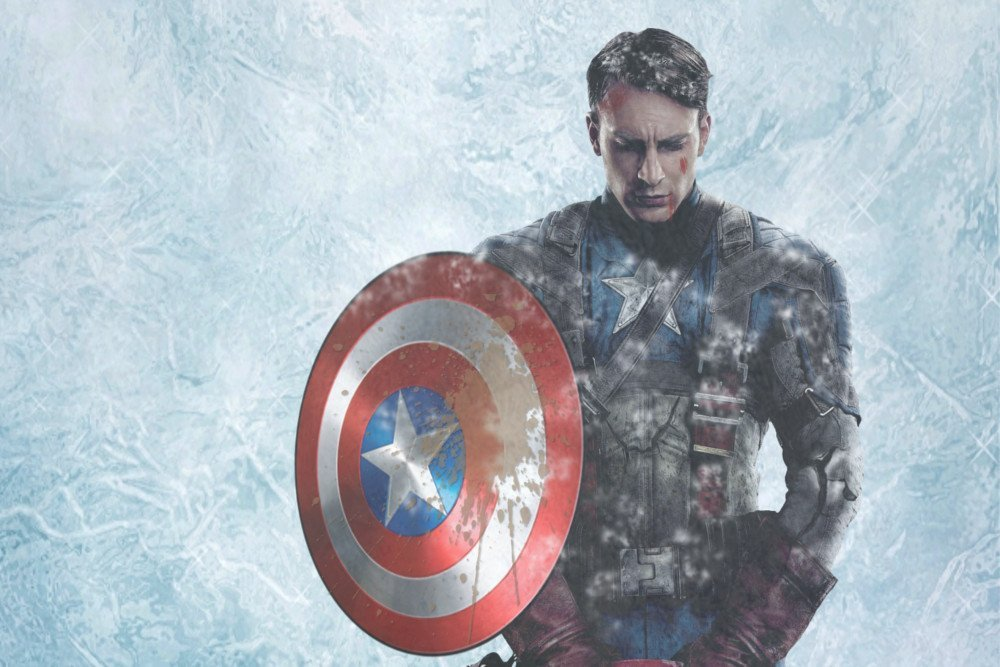 Image result for Captain america in the ice