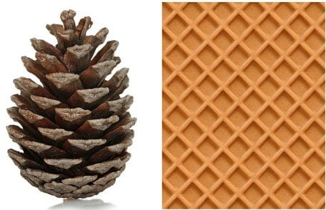 Pinecone and waffle shaped Exterior of a Grenade