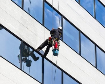 Window washing skyscrapers