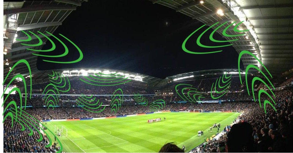 Sound waves in stadium