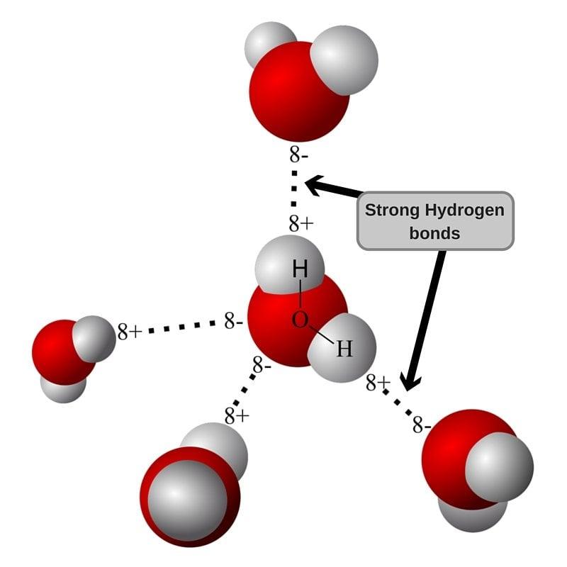 Strong Hydrogen bonds in water