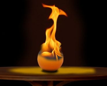 burning table tennis ball