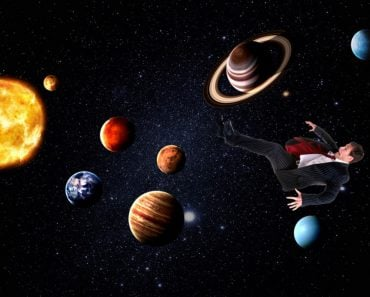 Man in solar system all planets