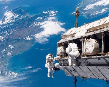 repairing satellite in space