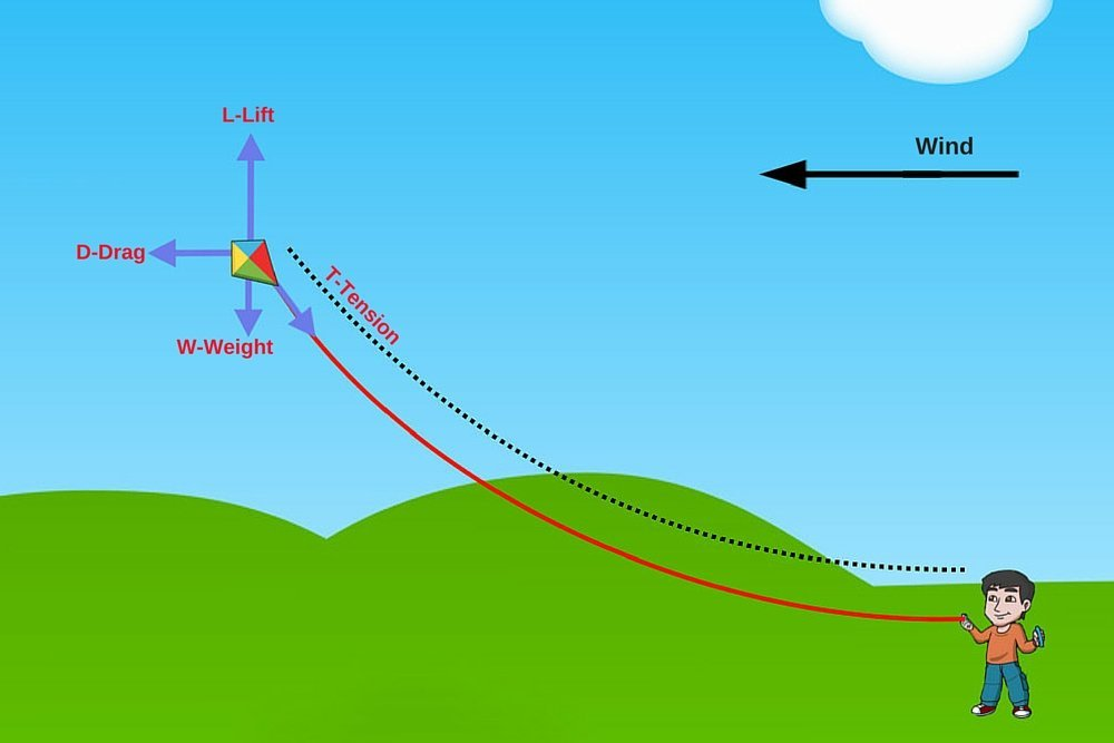 The science of flying a kite science abc forces involved in flying a kite ccuart Gallery