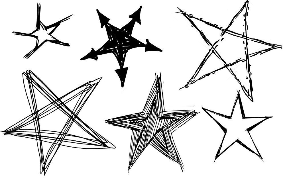 It is a graphic of Revered Drawing Of Stars